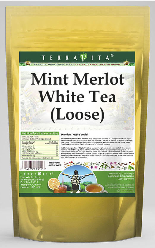 Mint Merlot White Tea (Loose)