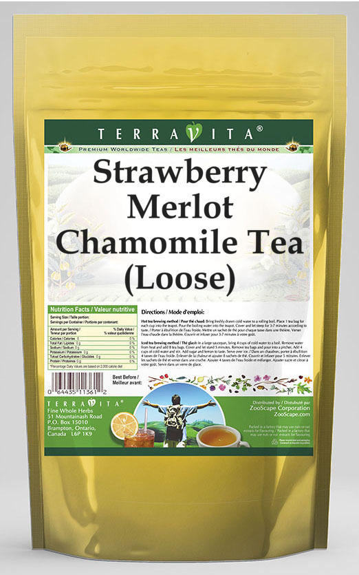 Strawberry Merlot Chamomile Tea (Loose)