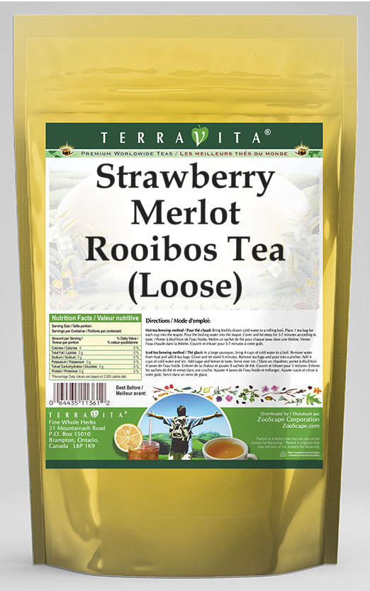 Strawberry Merlot Rooibos Tea (Loose)