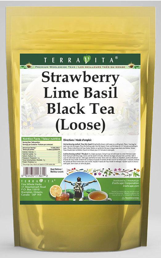 Strawberry Lime Basil Black Tea (Loose)