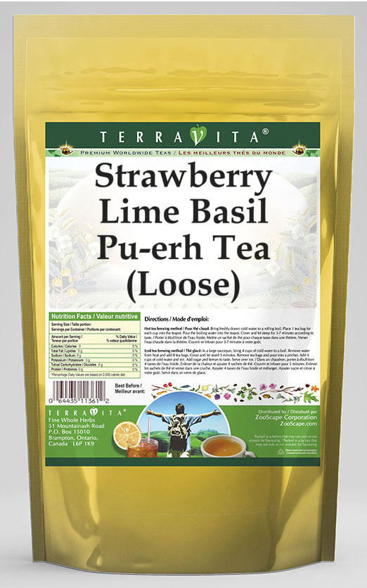 Strawberry Lime Basil Pu-erh Tea (Loose)