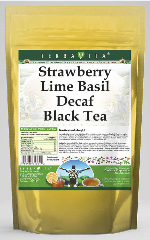Strawberry Lime Basil Decaf Black Tea