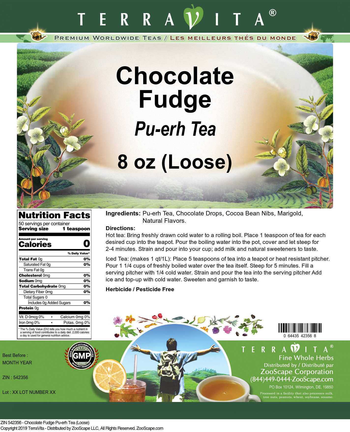 Chocolate Fudge Pu-erh Tea (Loose)