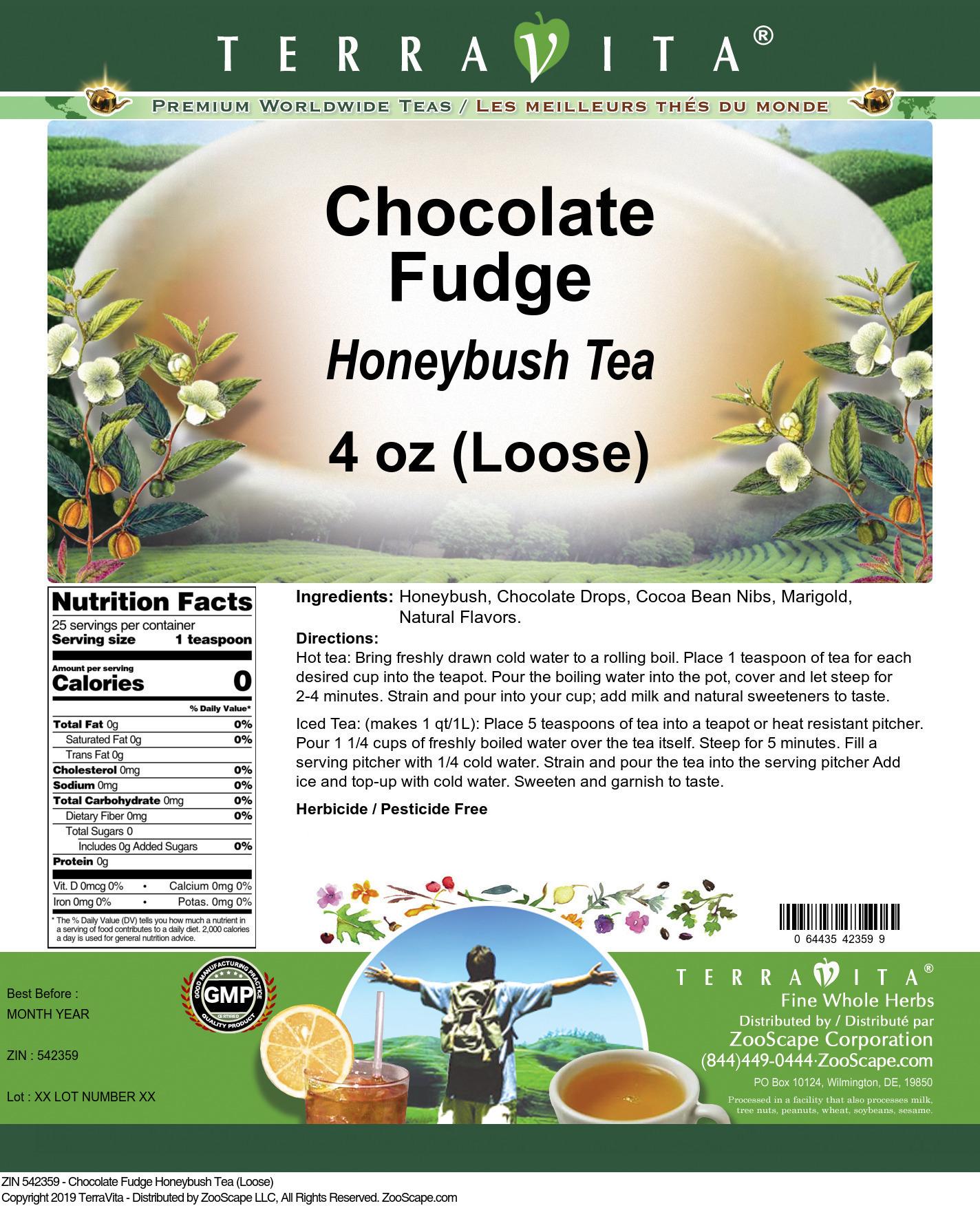 Chocolate Fudge Honeybush Tea (Loose)