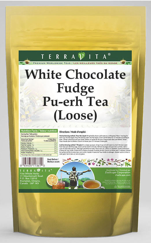 White Chocolate Fudge Pu-erh Tea (Loose)