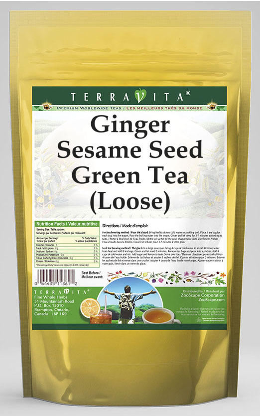 Ginger Sesame Seed Green Tea (Loose)