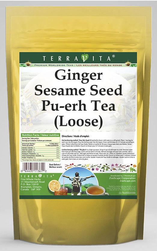 Ginger Sesame Seed Pu-erh Tea (Loose)