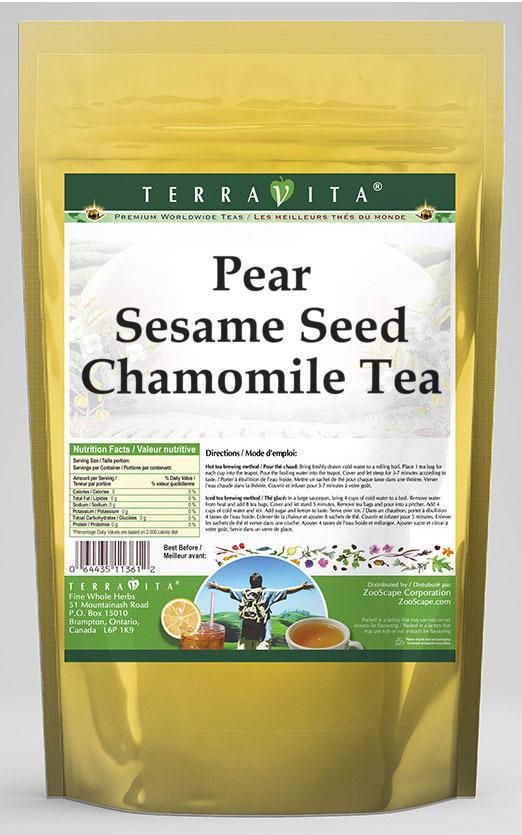 Pear Sesame Seed Chamomile Tea