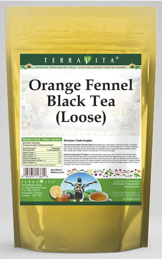 Orange Fennel Black Tea (Loose)