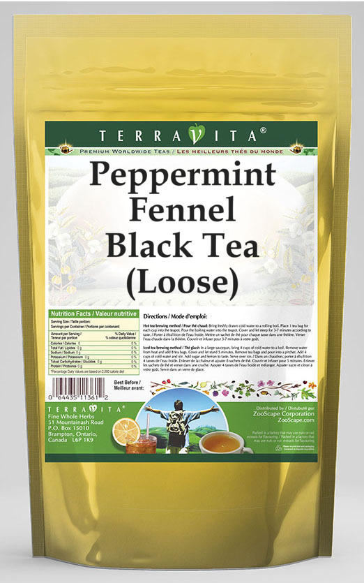 Peppermint Fennel Black Tea (Loose)