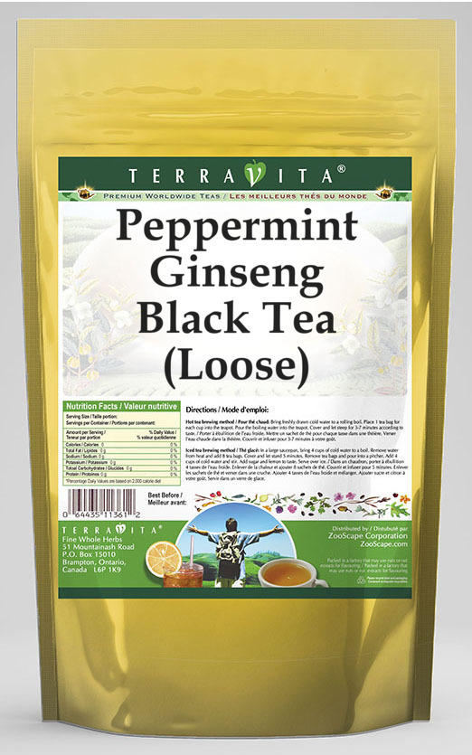 Peppermint Ginseng Black Tea (Loose)