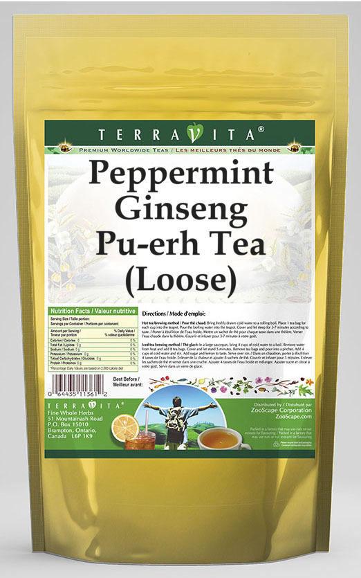 Peppermint Ginseng Pu-erh Tea (Loose)