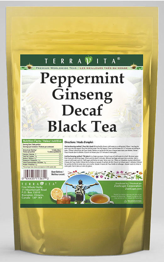 Peppermint Ginseng Decaf Black Tea
