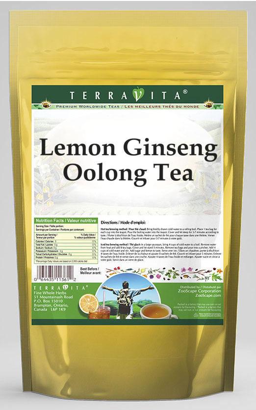 Lemon Ginseng Oolong Tea