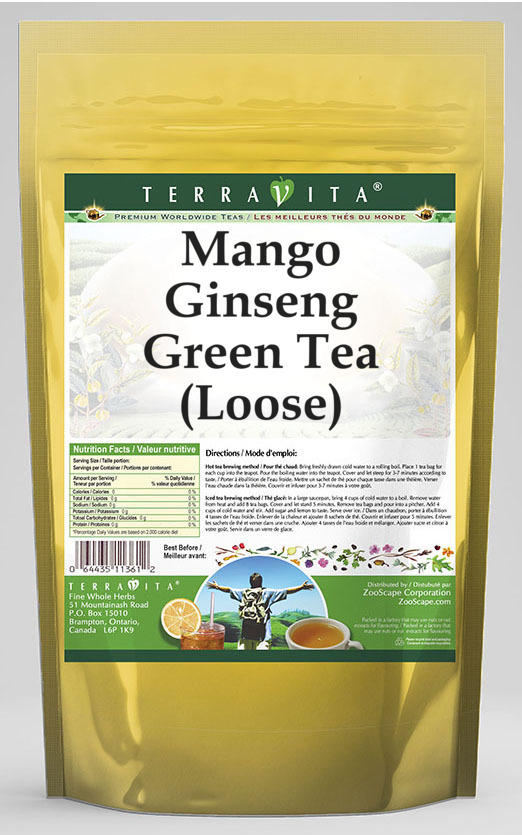 Mango Ginseng Green Tea (Loose)