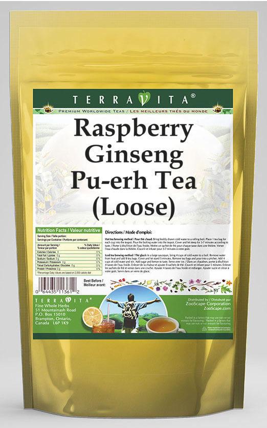 Raspberry Ginseng Pu-erh Tea (Loose)