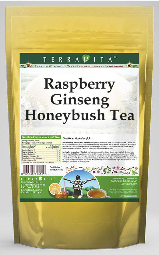 Raspberry Ginseng Honeybush Tea