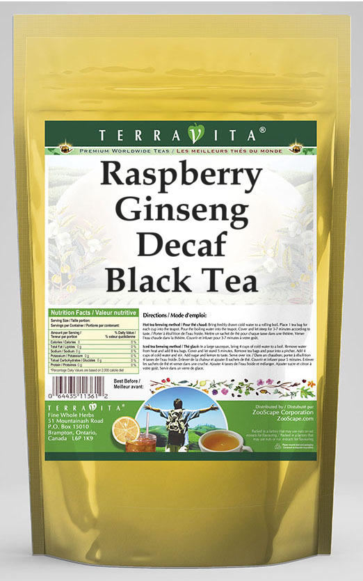 Raspberry Ginseng Decaf Black Tea