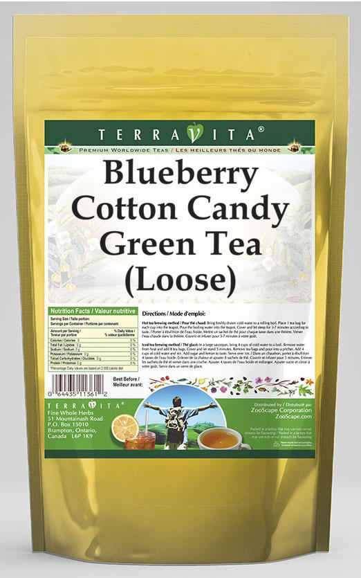 Blueberry Cotton Candy Green Tea (Loose)