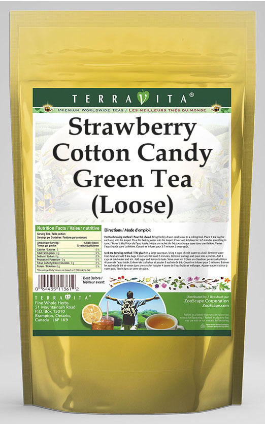 Strawberry Cotton Candy Green Tea (Loose)