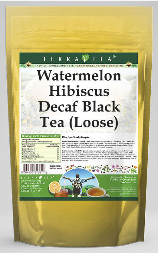 Watermelon Hibiscus Decaf Black Tea (Loose)