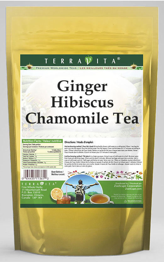 Ginger Hibiscus Chamomile Tea