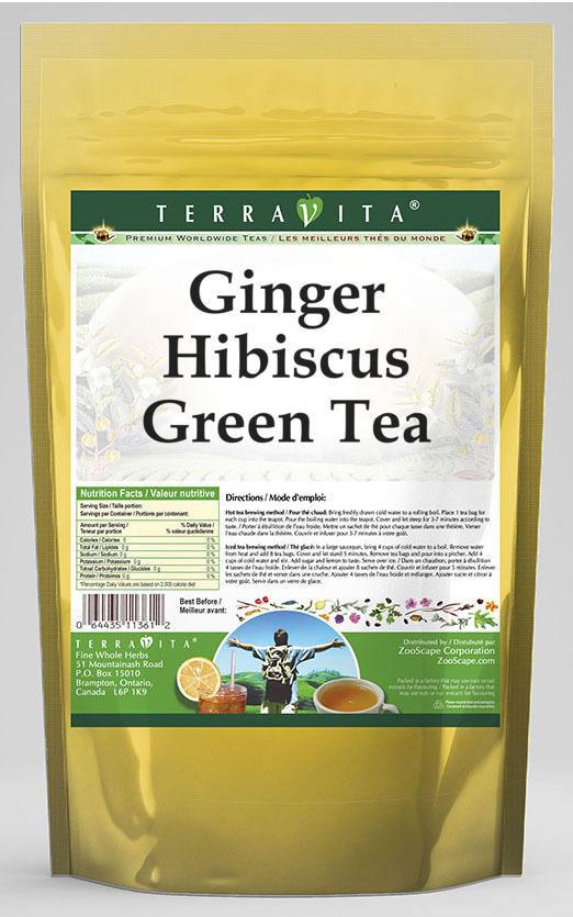 Ginger Hibiscus Green Tea