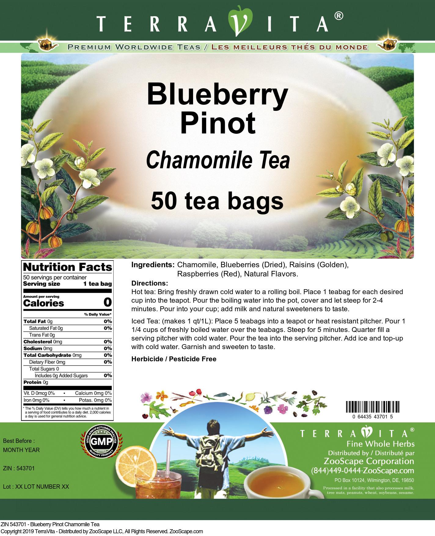 Blueberry Pinot Chamomile Tea