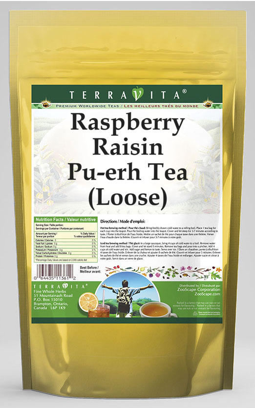 Raspberry Raisin Pu-erh Tea (Loose)