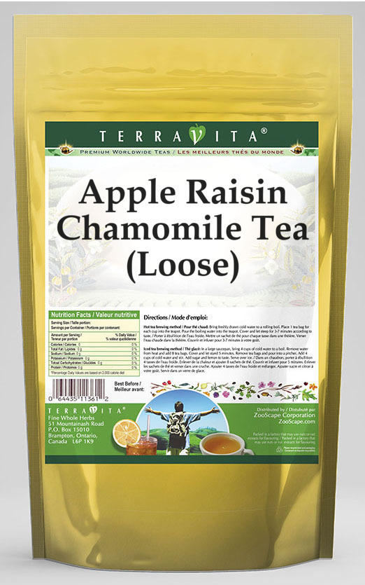 Apple Raisin Chamomile Tea (Loose)