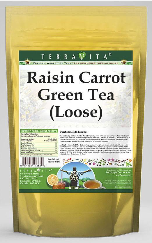 Raisin Carrot Green Tea (Loose)