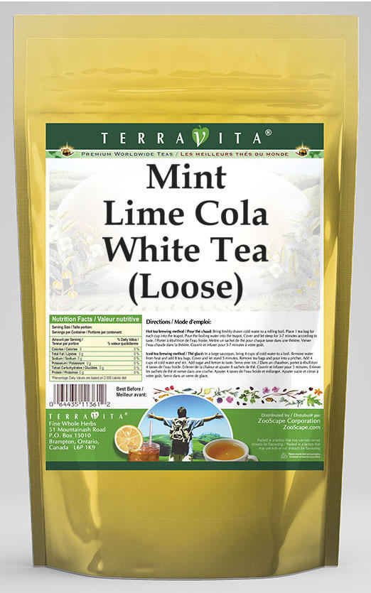 Mint Lime Cola White Tea (Loose)