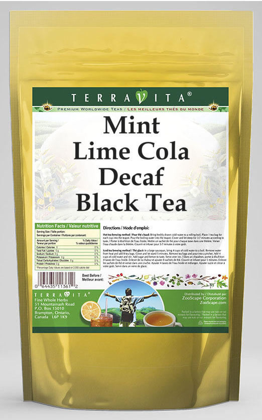 Mint Lime Cola Decaf Black Tea