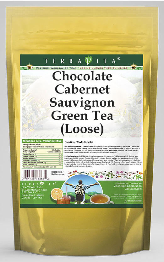 Chocolate Cabernet Sauvignon Green Tea (Loose)