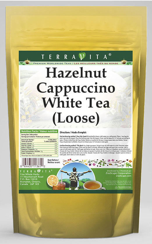 Hazelnut Cappuccino White Tea (Loose)