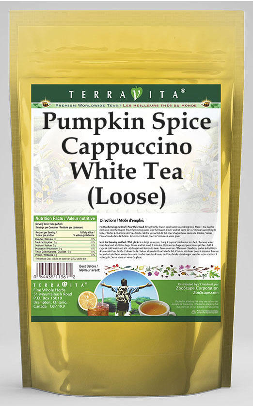 Pumpkin Spice Cappuccino White Tea (Loose)