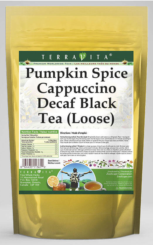 Pumpkin Spice Cappuccino Decaf Black Tea (Loose)