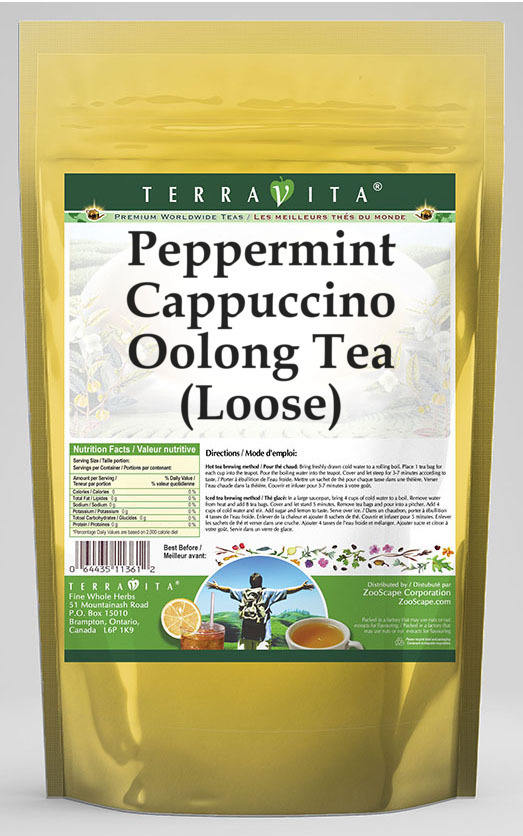 Peppermint Cappuccino Oolong Tea (Loose)