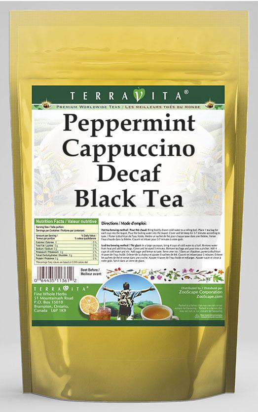 Peppermint Cappuccino Decaf Black Tea