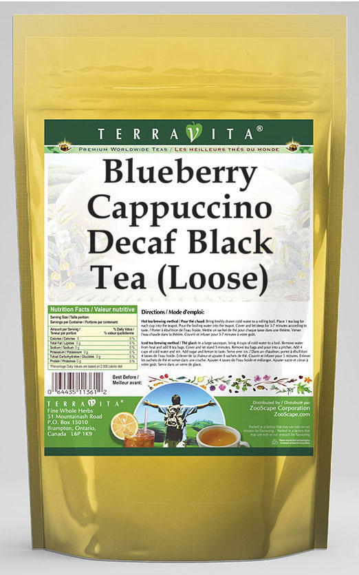 Blueberry Cappuccino Decaf Black Tea (Loose)