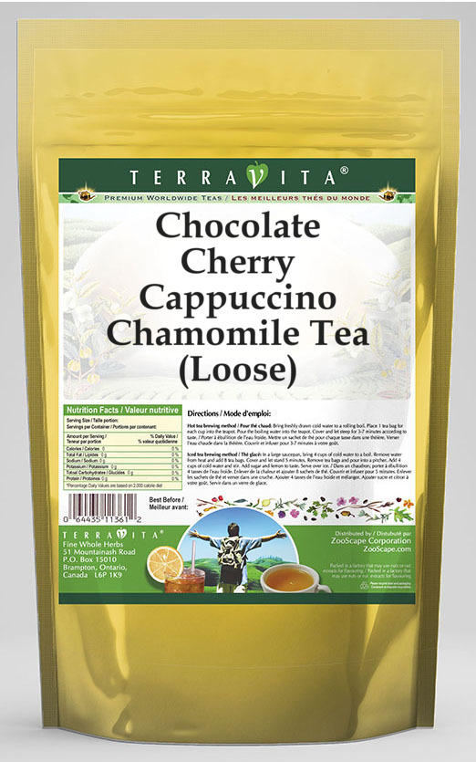 Chocolate Cherry Cappuccino Chamomile Tea (Loose)