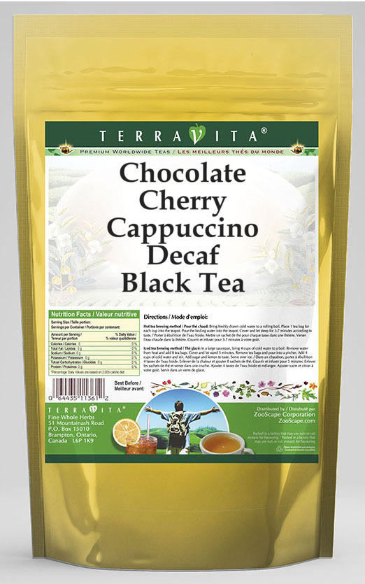 Chocolate Cherry Cappuccino Decaf Black Tea