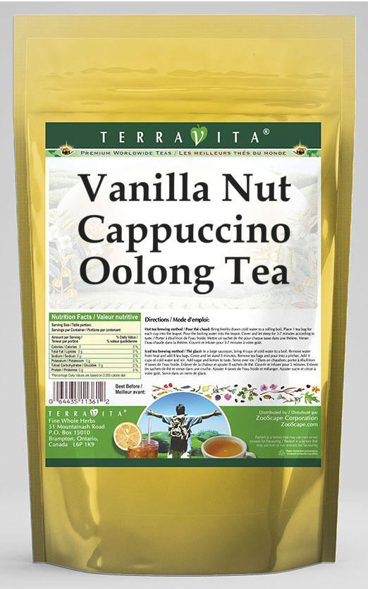 Vanilla Nut Cappuccino Oolong Tea