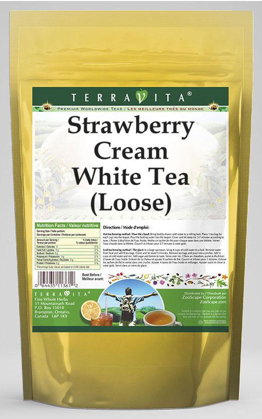 Strawberry Cream White Tea (Loose)