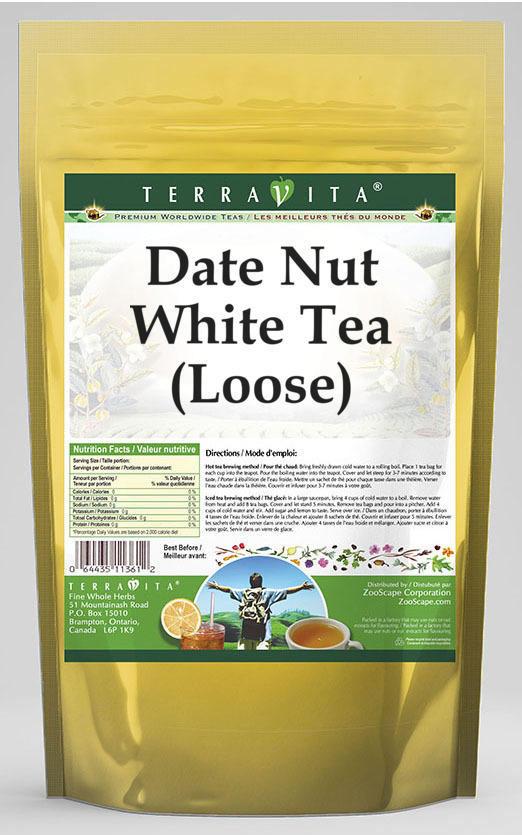 Date Nut White Tea (Loose)