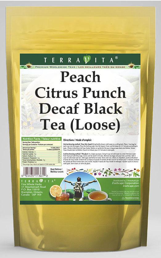 Peach Citrus Punch Decaf Black Tea (Loose)