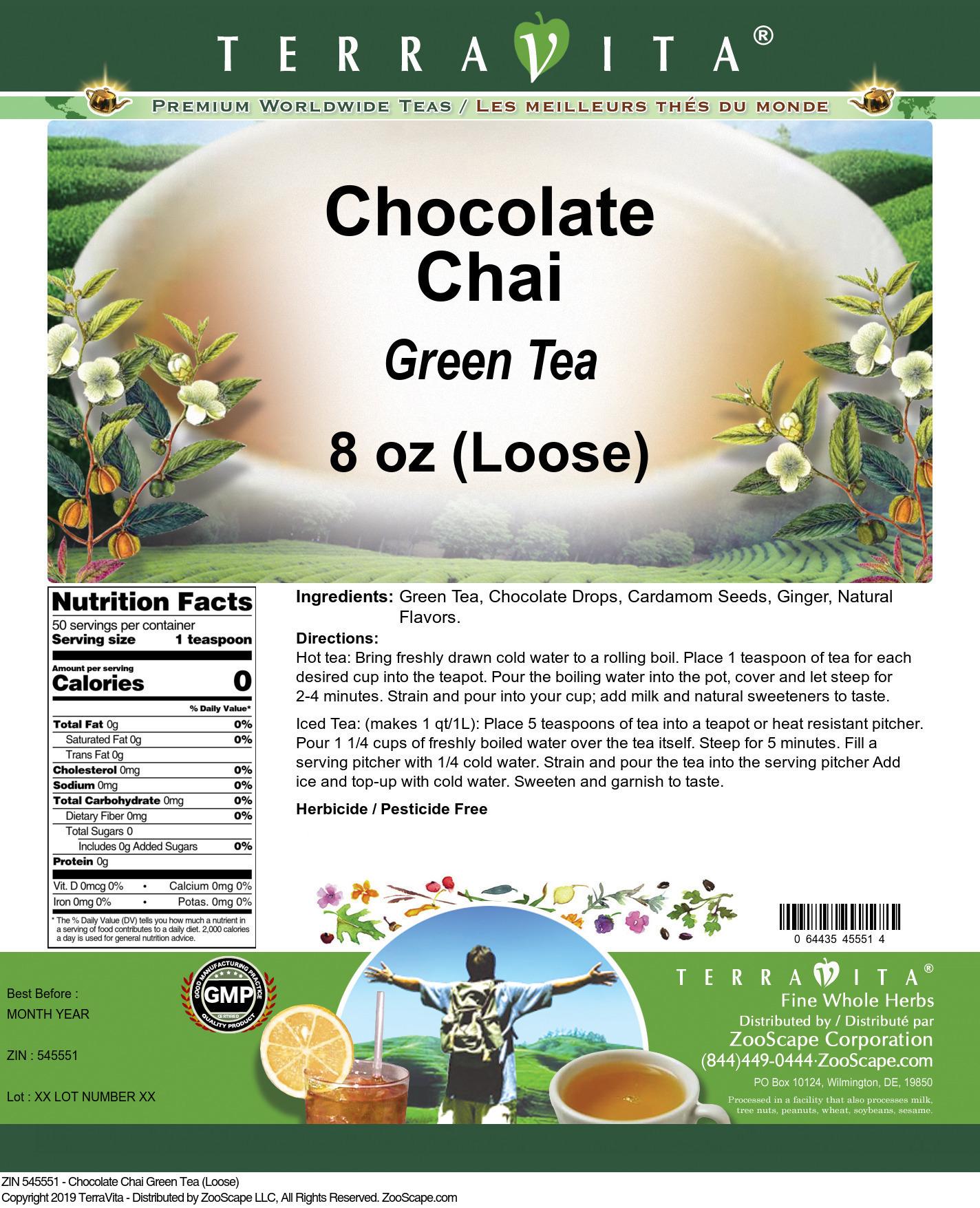Chocolate Chai Green Tea (Loose)