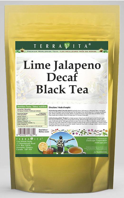 Lime Jalapeno Decaf Black Tea