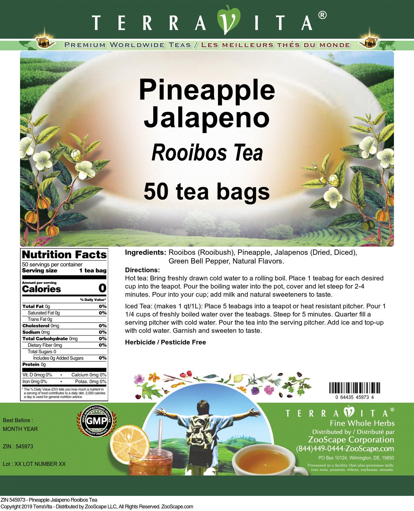 Pineapple Jalapeno Rooibos Tea