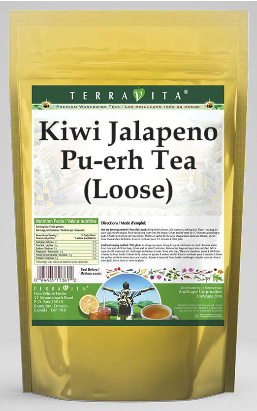 Kiwi Jalapeno Pu-erh Tea (Loose)